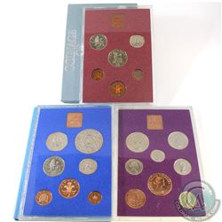 1970, 1977 & 1979 Great Britian & Northern Ireland Uncirculated sets (1970 is missing outer sleeve).