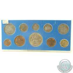 1953 Great Britian Coronation 10-coin Uncirculated set in Hard Plastic display (protective hard plas