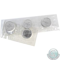 2008 Canada Strip of 5x 1oz. $5 .9999 Vancouver Olympic Commemorative Fine Silver Maple Leafs Sealed
