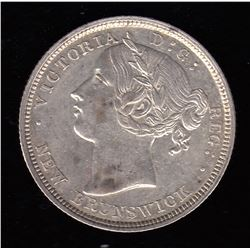 Br 904. N.B. 1864 20 cents