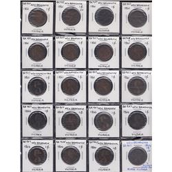 Br 907. N.B. 1864 1 cent. Lot of 27.