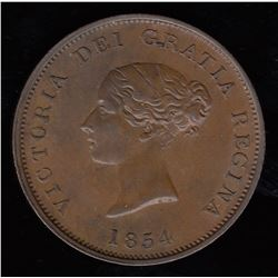 Br 911.  1854 penny.