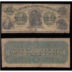 Banque Jacques Cartier $4, 1870