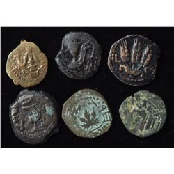 Ancients - Group of 6 Judaean Bronzes
