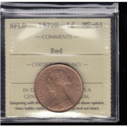 1872H Newfoundland One Cent