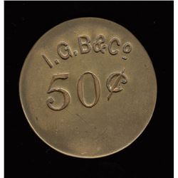 Alberta - FORT MACLEOD - I. G. Baker & Company  - Private Fur Trade Token