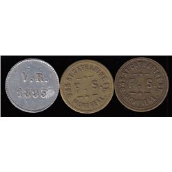 Quebec Tokens - Br. 623 and 624