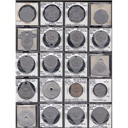 Lot of 60 Quebec bakery and dairy tokens.