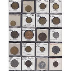 Lot of 60 Montreal Quebec tokens.
