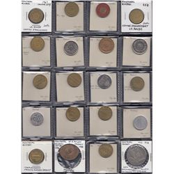 Lot of 69 modern Quebec tokens, medallions, etc.