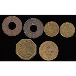 Lot of 6 Ontario Tokens
