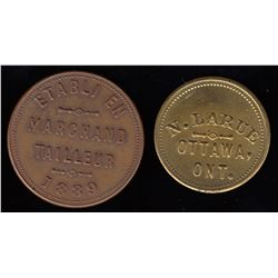 Lot of 2 Ontario Tokens