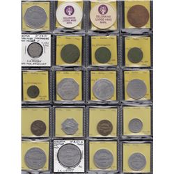 Lot of 38 Manitoba trade tokens.