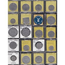 Lot of 41 Manitoba trade tokens.