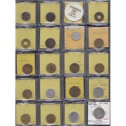 Lot of 20 Winnipeg Manitoba trade tokens.