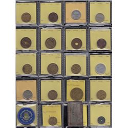Lot of 25 Winnipeg Manitoba trade tokens.
