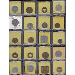 Lot of 27 Winnipeg Manitoba trade tokens.