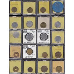 Lot of 41 Winnipeg Manitoba trade tokens.