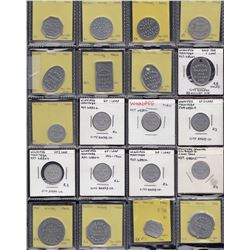 Lot of 60 Winnipeg Manitoba bakery tokens.