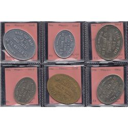 Saskatchewan - Lot of 6 very scarce Moosomin tokens.