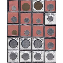 Saskatchewan - Lot of 52 trade tokens.