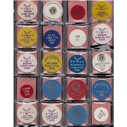 Saskatchewan - Bulk lot of 142 plastic tokens