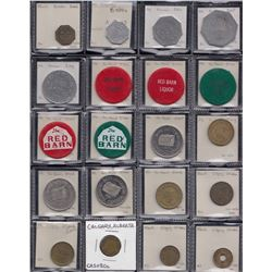 Alberta - Lot of 116 trade tokens.