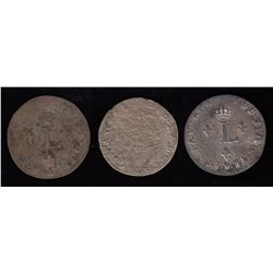 Br. 508. Sous-Marques. A trio of scarce 1741 pieces.
