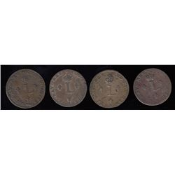 Br. 508. Sous-Marques. Four scarcer types from the Paris Mint.