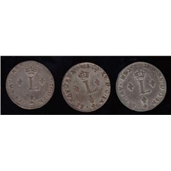 Br. 508. Sous-Marques.  A trio of 1764-A.