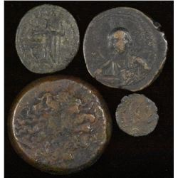 Group of 4 Bronze Coins