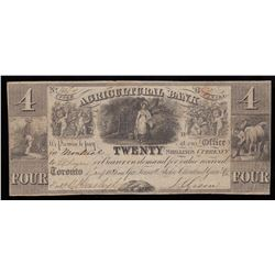 Agricultural Bank $4, 1835