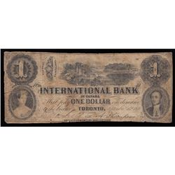 The International Bank of Canada $1, 1858