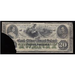 Bank of Prince Edward Island $20, 1872