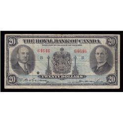 Royal Bank of Canada $20, 1935 Radar