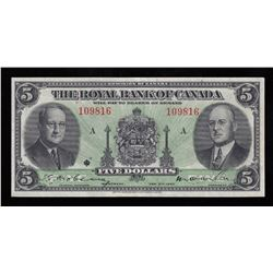Royal Bank of Canada $5, 1943