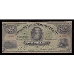 Union Bank of Newfoundland $2, 1882