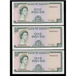 Jamaica 1 Pound, 1960 - Lot of 3 Consecutive