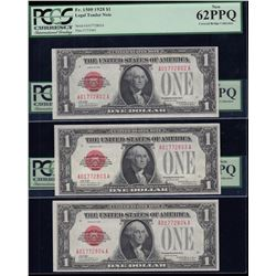 United States of America $1, 1928 - Lot of 10 Consecutive Numbers