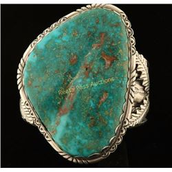 Large Royston Turquoise Navajo Cuff