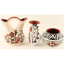 Lot of 3 Acoma Pots