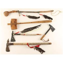 Lot of Movie Prop Tomahawks