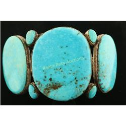 Sleeping Beauty Turquoise Large Stone Cuff
