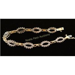 Sparkly 1.5 Carat Two-Tone Diamond Bracelet