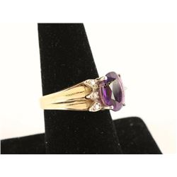 Royal Purple Amethyst & Diamond Ring
