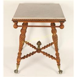 Spindle Leg Table with Claw Feet