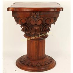 Fancy Hand Carved Pedestal Table