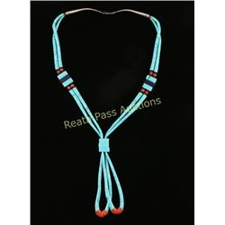 Navajo Style Turquoise Type Necklace