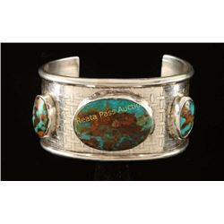 Navajo Turquoise & Silver Cuff Bracelet