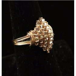 Captivating 1 Carat Light Champagne Diamond Ring